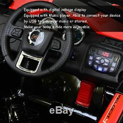 12V Kids Ride On Racing Off Road Truck Car Remote Control withLED Light MP3 Red
