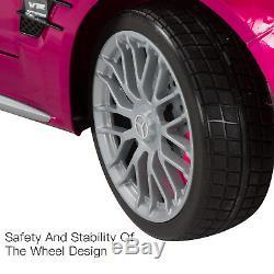 12V Kids Ride On Toy Car Licensed Mercedes-Benz RC Remote Control Radio&MP3 Pink