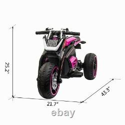 12V Kids Ride On Toy Motorcycle Three-wheeled Electric Bike Car with Mp3 Horns