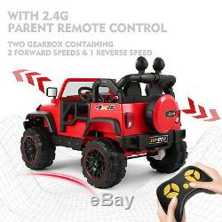 12V Kids Ride On Truck Car Battery Operated 4 Big Wheels Remote Control 3 Speed
