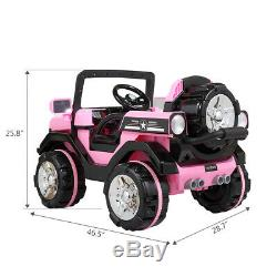 12V Kids Ride On Truck Car Electric Toy SUV Style Remote Control with LED MP3