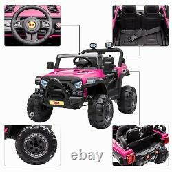 12V Kids Ride On Truck with Remote Control Battery Powered Music MP3 Safety Belt