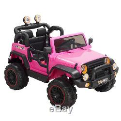 12V Kids Ride on Car Electric Battery Power Wheel withRemote Control 4 Speeds Pink
