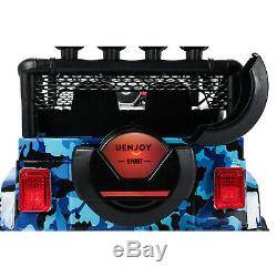 12V Kids Ride on Car Electric Battery Toys Suspension With Remote Control Blue