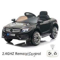 12V Kids Ride on Car Electric Pre-Kindergarten Toys With Remote Control Black