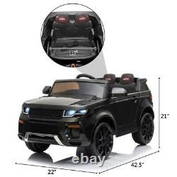 12V Kids Ride on Car Toys Battery Powerful Wheels Music LED Remote Control Black