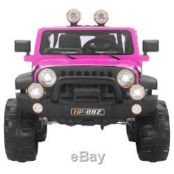 12V Kids Ride on Cars Electric Battery Power Remote Control 2 Speed Jeep Pink