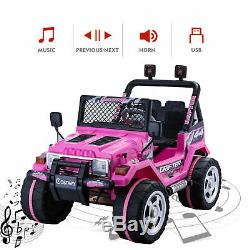 12V Kids Ride on Cars Electric Kids Toys WithRemote Control 3 Speed LED Lights