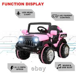 12V Kids Ride on Truck Car Battery Powered Electric Car 3 Speed WithRemote Control