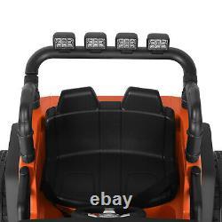 12V Kids Ride on Truck Car Electric Jeep Toy Spring Suspension MP3 LED RC Orange