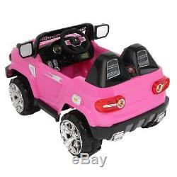 12V Kids Truck SUV Ride-On Car Toys Electric Light, Music, Remote Control, Pink