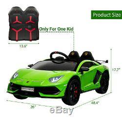 12V Lamborghini Aventador Electric Kid Ride On Car with Remote Control Music Fun