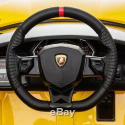 12V Lamborghini Aventador SV J Kids Electric Ride on Car withMP3, AUX, LED Red