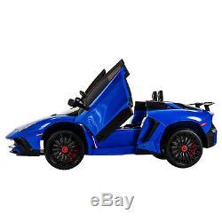 12V Lamborghini Kids Ride on Car Children's Electric Toys Battery Power MP3 Blue