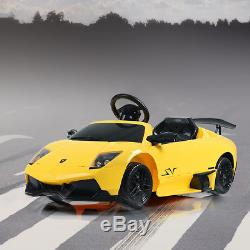 12V Lamborghini Murciealgo Licensed Electric Kids Ride On Car RC with LED Lights