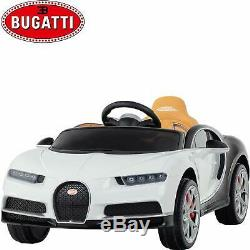 12V Licensed Bugatti Chiron Kids Ride On Car Battery Electric Cars with RC