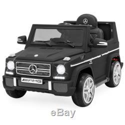 12V Licensed Mercedes Ride On Car Parent Control BuiltIn Speakers AUX Matte Blck