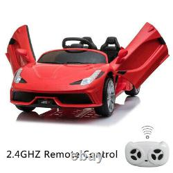 12V Luxury Kids Ride on Super Sports Car Electric Battery Remote Control Red