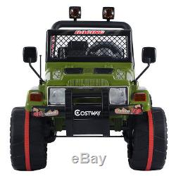 12V MP3 Kids Raptor Jeep Wrangler Truck RC Ride On Car with Double Motor & Battery