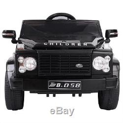12V MP3 Kids Ride On Car Battery Power Wheels RC Remote Control with LED Lights