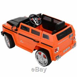 12V MP3 Kids Ride On Car Battery Powered Toy RC Remote Control with LED Lights
