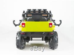 12V MP3 Kids Ride on Jeep Car R/C Remote Control, Lights Radio and Tunes Green