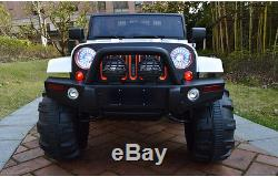 12V MP3 Kids Ride on Jeep Car R/c Remote Control, LED Lights AUX and Tunes