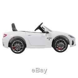 12V Maserati Gran Cabrio Electric Kids Ride On Car Toy with Remote Control White