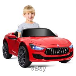 12V Maserati Licensed Kids Ride on Car with RC Remote Control Led Lights MP3 Red