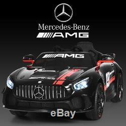12V Mercedes Benz AMG Licensed Kids Ride On Car with 2.4G Remote Control Black