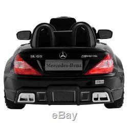 12V Mercedes-Benz SL65 Electric Kids Ride On Car Music RC Remote Control Black