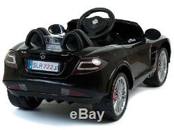 12V Mercedes-Benz SLR 722s Kids RC Ride On Car Battery Powered Wheels MP3 Remote