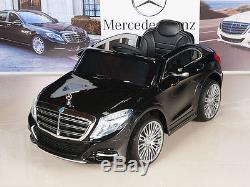 12v power wheels car kids mercedes benz s600 rc remote control black battery operated toys