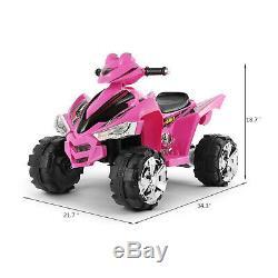 12V Ride On Car ATV Quad Kids Electric Toy 4 Wheeler LED Lights Latest Cool Gift