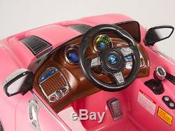 12V Ride On Car Kids With MP3 Electric Battery Power Remote Control RC Pink