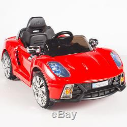 12V Ride On Car Kids With MP3 Electric Battery Power Remote Control RC Red