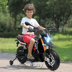 12V Ride On Dirt Bike -Kids Electric Off Road Motorcycle Toy with Training Wheels