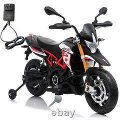 12V Ride On Motorcycle Dirt Bike -Kids Electric APRILIA Toy with Spring Suspension
