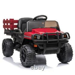 12V Ride on Truck Kids Car Toys Battery Power Wheels Music Light Remote Control