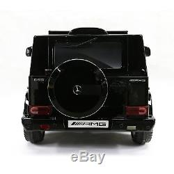12V Truck Ride On Mercedes Benz G65 Remote Control MP3 Leather Seat Lights Black