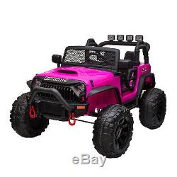 12V kids Ride On Truck Battery Powered Electric Car withRemote Control LED Light