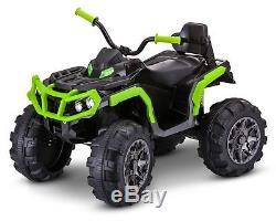 12 Volt Kid Trax Beast ATV Ride On Black / Green KT1250TR