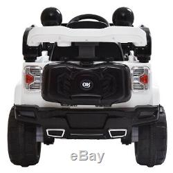 12 Volt Kids Ride On Car Battery Power Wheels Truck Remote Control With MP3 White