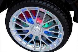 12 Volts Rechargeable Battery Car Ride On Remote Control LED Wheels MP3 Black