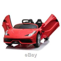 12v Kids Ride on Car Electric Battery Power RC Remote Control Toys Gift Red