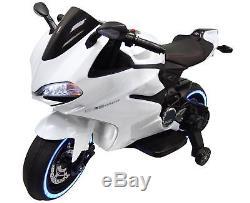 12v kids ride on mini bike motorcycle electric battery power wheels tron style