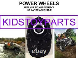 15t Large Axle Hole Power Wheels #7r Jeep Hurricane Gearbox Upgrade