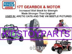 17t #7r Power Wheels Arctic Cat Gearbox Transmission & Motor Upgrade