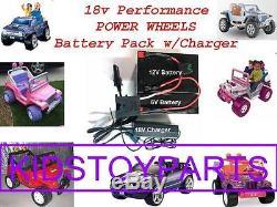18V Volt Battery Charger Kit Upgrade For 12v Power Wheels with$20 Cash Back Option