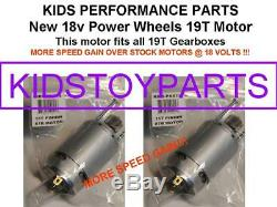 18v Pair Faster Stage-4 19t #7r Motors! For Power Wheels Jeep Gearboxes